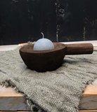 houten schaaltje met handvat_