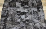 Toscaans lamsvacht kleed patchwork, Snow_