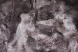 Toscaans lamsvacht kleed patchwork, Donkerbruin_