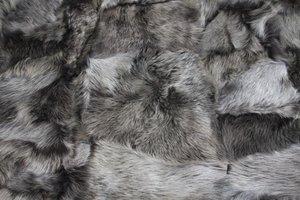 Toscaans lamsvacht kleed patchwork, Snow
