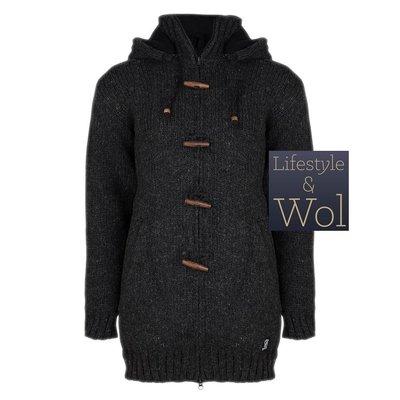 Schapenwollen Vest Woodcord, Antraciet