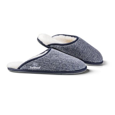 Pantoffel Trendy Vilt, Blauw melange