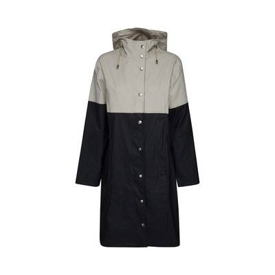 Ilse Jakobsen Raincoat, Black Milk Creme