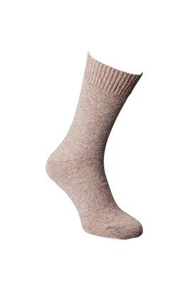 Alpaca sokken dun, lichtbruin