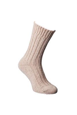 Alpaca sokken dik, Lichtbruin