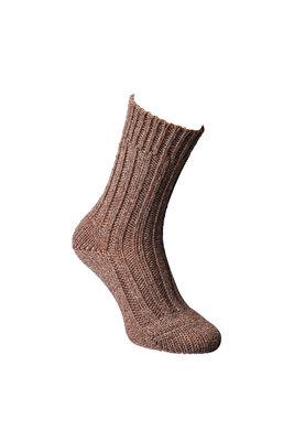 Alpaca sokken dik, Donkerbruin