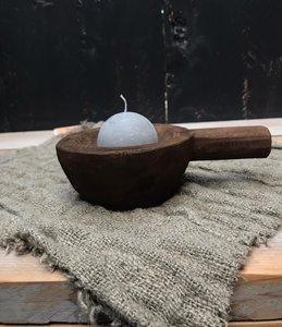 houten schaaltje met handvat