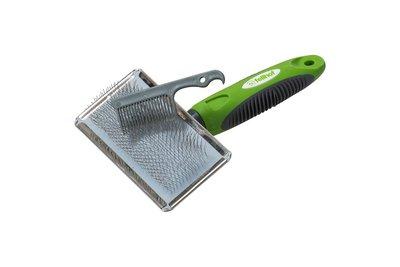 Vachtborstel met automatische reiniging